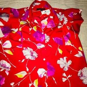 Banana Republic Soft Blouse Red Size Medium